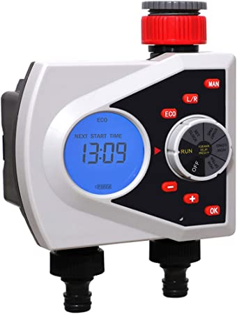 Yardeen 4 Outlet Water Timer Smart Water Hose Timer Automatic Irrigation System with 2 Solenoid Valve