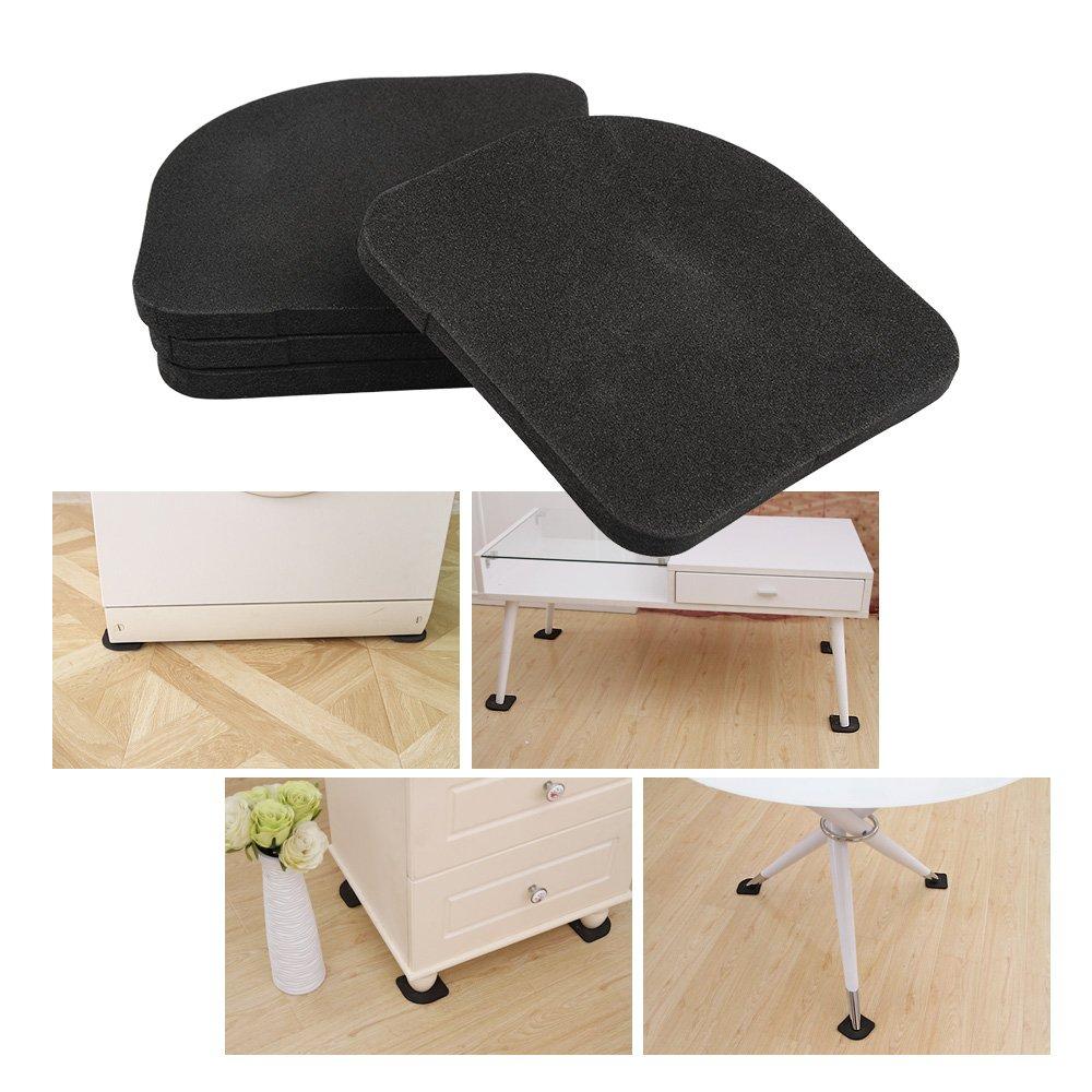 ASIV 4 Piezas Anti-vibration Mat para la Lavadora Refrigerador Antideslizante Alfombras Mute Cojines