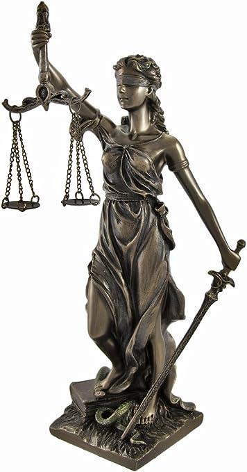 Statuette /« Justitia /» bronze style antique statue 41cm sculpture