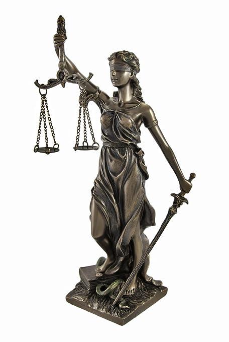 Bronce La Justicia con balanza y espada estatua 8 en.