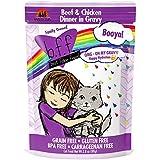 Weruva B.F.F. OMG - Best Feline Friend Oh My Gravy!, Booya! Beef & Chicken in Gravy Cat Food by, 2.8oz Pouch (Pack of 12)