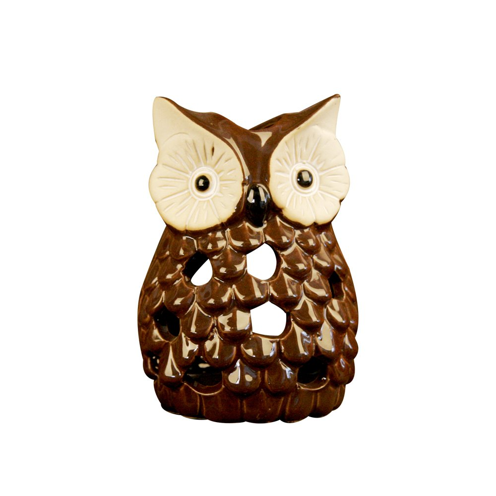 Animals Ceramic Owl Candlestick Easter Furnishings Wall Shelf Decorating (Owl candlestick)