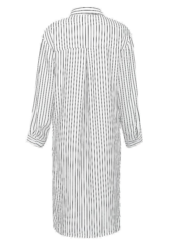 6d17236ac4954 Romacci Women Stripe Long Sleeve Shirt Turn-Down Collar Plus Size Tops  Kimono Cardigan Oversized Tunic Blouse  Amazon.co.uk  Clothing