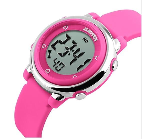 ALPS Kids Multi Función Digital LED agua resistantsport reloj (rosa ... c90413a209ec