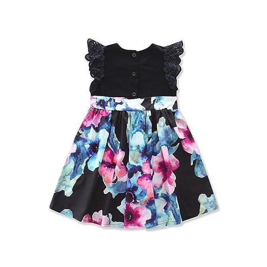 f4d53c012d4 Amazon.com  Franterd Mom   Me Parent-Child Boho Beach Dress Mini ...