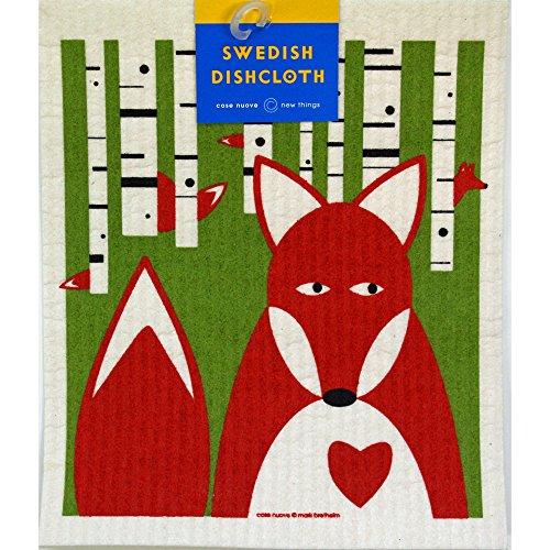 Swedish Dishcloth Fox in Birches product image