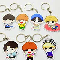 FUNCOCO Creative Key Chain, 7 Pcs Q Version Keychain Key Ring Hot Gift for Fans