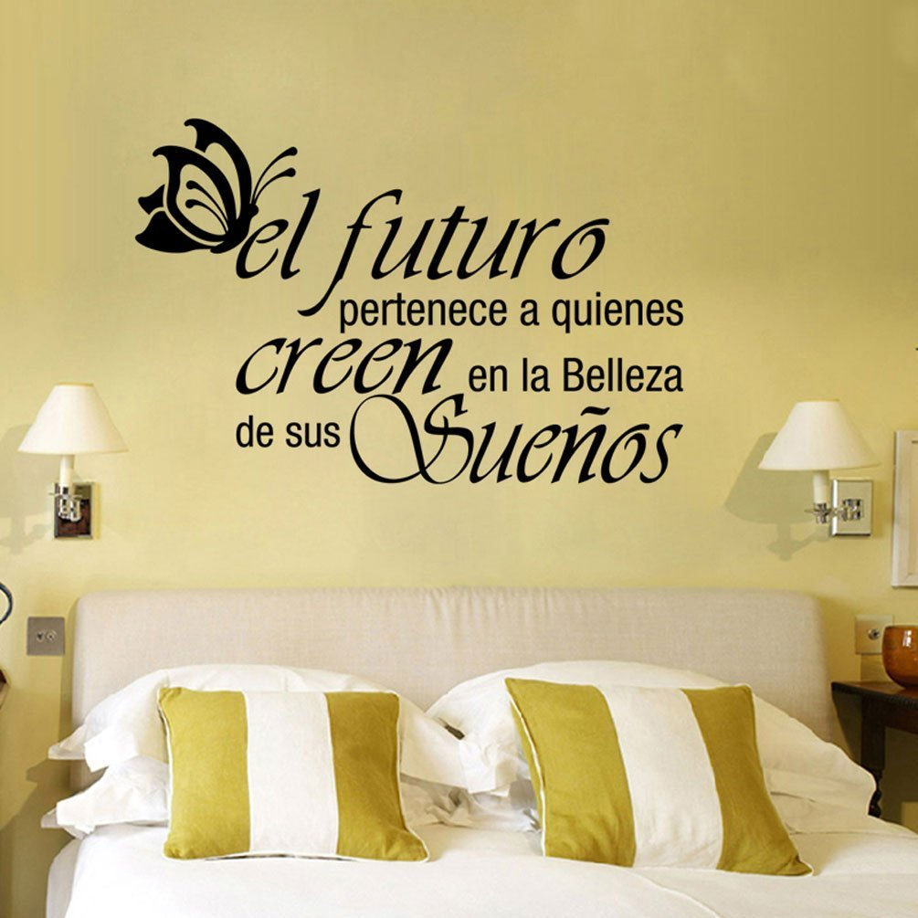 Letters Wall Decor Stickers Spanish Quote Word Pattern Living Room