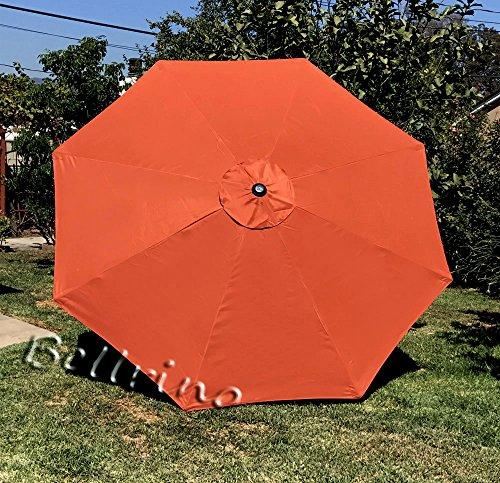 BELLRINO DECOR Replacement Umbrella Canopy for 8ft 8 Ribs Orange (ORANGE-88)