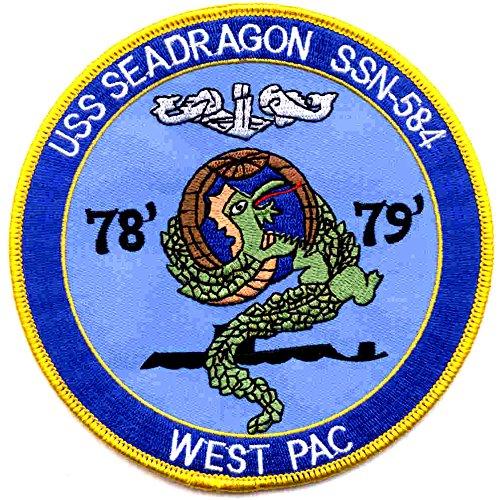 SSN-584 USS Sea Dragon Patch - Version B ()