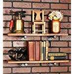 Rustic Pipe Decor Industrial Shelf Brackets - Set of Four, Industrial Steel Grey Iron Fittings, Flanges and Pipes for Hanging Custom Floating Shelves, Wall Mounted Bracket, 10 Inch (4 Brackets Only) 7