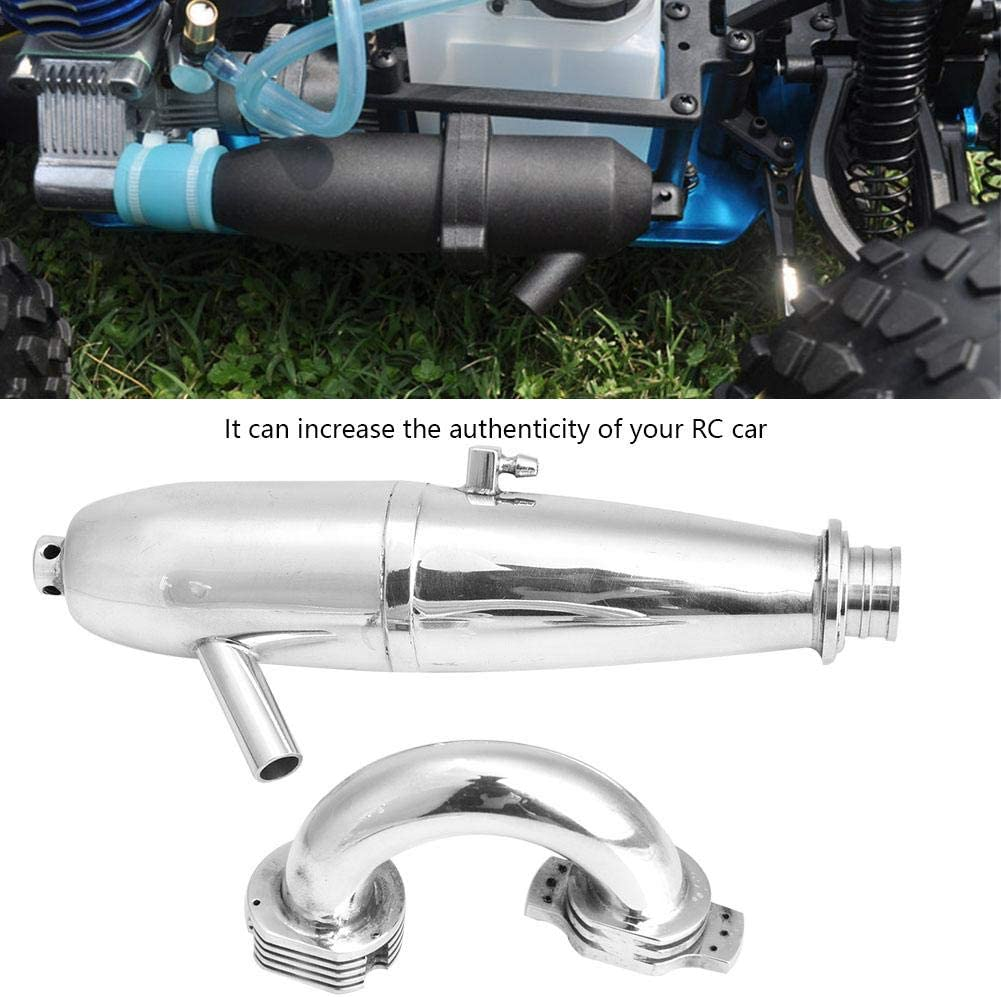 Aluminium Alloy Dual Exhaust Joint Tube for HSP Redcat 1//8 RC Car//SH GO 21//28CXP Engine RC Model Upgrade Part Accessory RC Car Exhaust Pipe