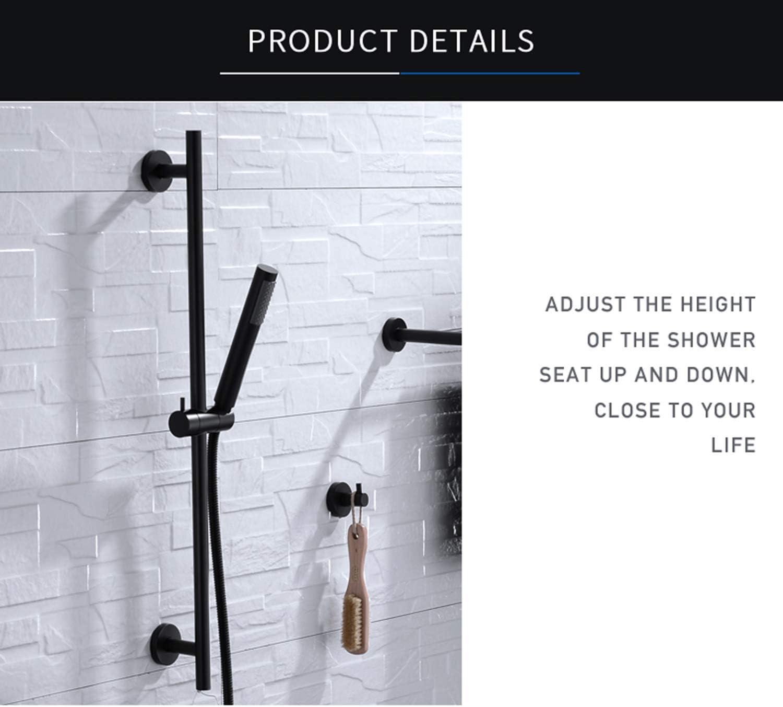 B07S6964K7 Chioy Bi- Massaging Shower Head- Brass Hand Shower Head With Set Adjustable Slide Bar Brass Hand Held Showers- Shower Massage - Shower Head Massager- Massage Shower (Whole set) 712sfmW5HaL.SL1500_
