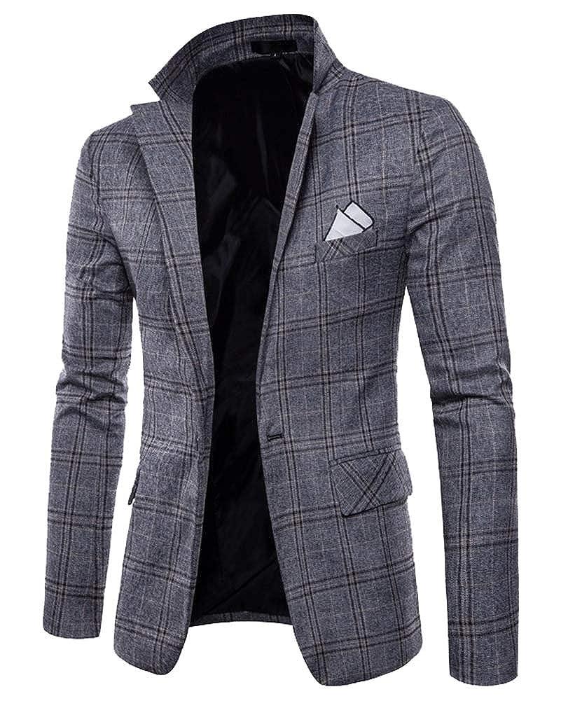Suncaya Uomo Slim Fit Casual One Button Abiti Formali Giacca da Smoking Blazer d'Affari Outwear