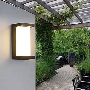 Lámpara de pared retro Lámpara de pared de fachada para patio exterior Fachada impermeable al aire libre Luz de pandilla Lámpara de pared de luz al aire libre (18W) (Clase de energía