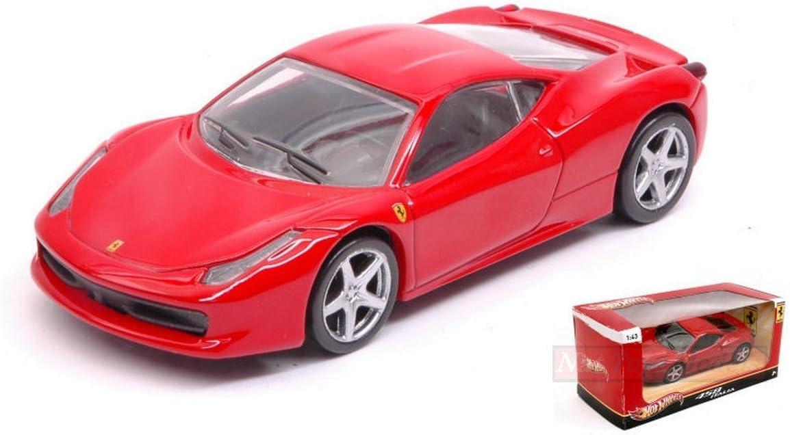 HOT WHEELS HWT8417 FERRARI 458 ITALIA 2009 RED 1:43 MODELLINO DIE CAST MODEL