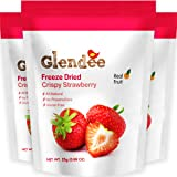 Freeze Dried Strawberry, Crispy Strawberry, 100% Real Fruit Snack, Crunchy & Naturally Whole Dried Strawberry, Healthy Snacks