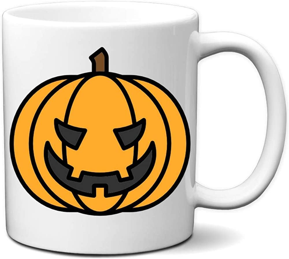 Disfraz de calabaza de Halloween Jack O Lantern White Taza de café ...