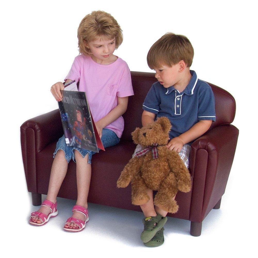 Brand New World Furniture FPVP100 Brand New World Preschool Premium Vinyl Upholstery Sofa, Port Burgundy