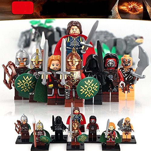 TONGROU 8pc-set-Minifigure-the-Lord-of-the-Eomer-Aragorn-Wraith-Archer-Theoden-Toy