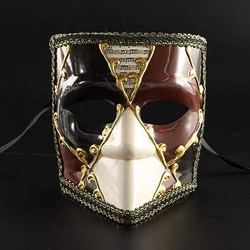 OOFAY Máscara Veneciana, máscara de Halloween de Cara Completa ...