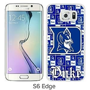 NCAA Duke Blue Devils 6 White Popular Custom Design Samsung Galaxy S6 Edge G9250 Phone Case