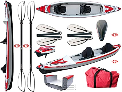 BIC Sport - Canoa hinchable YakkAir Full HP 2 Two 101499 + 2 ...