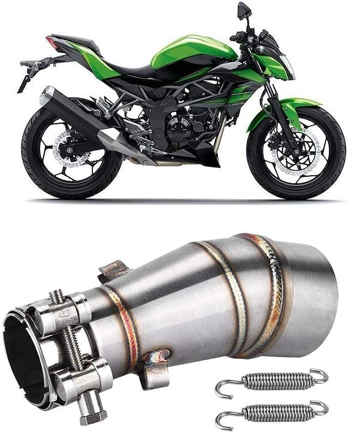 motocicleta Adaptador de conexi/ón de enlace de tubo medio de tubo medio para R25 Tubo intermedio de escape R3 2015-2018