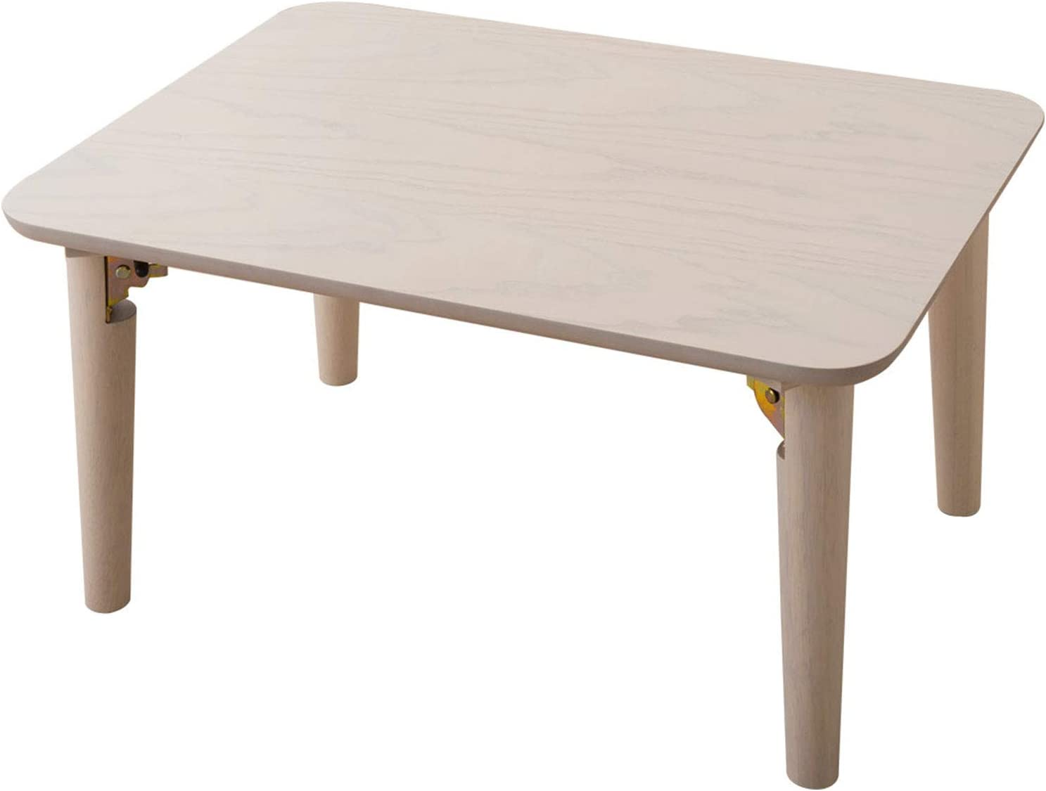 EMOOR Wooden Folding Coffee Table, Rectangle (Small), White