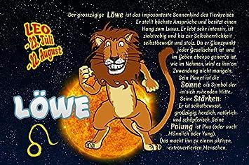Schatzmix Lowe Leo Sternzeichen Tierkreis Lustig Blechschild Comic