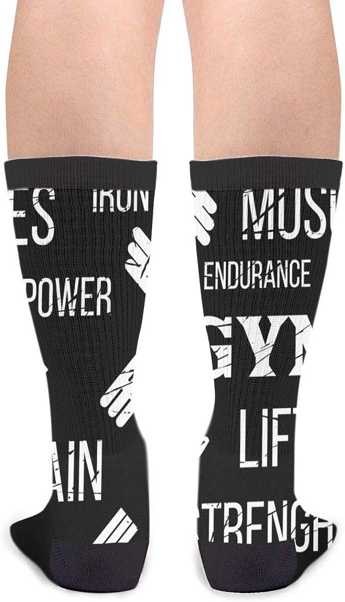 Gifts Gym Label Dumbbell Novelty Socks For Women /& Men One Size