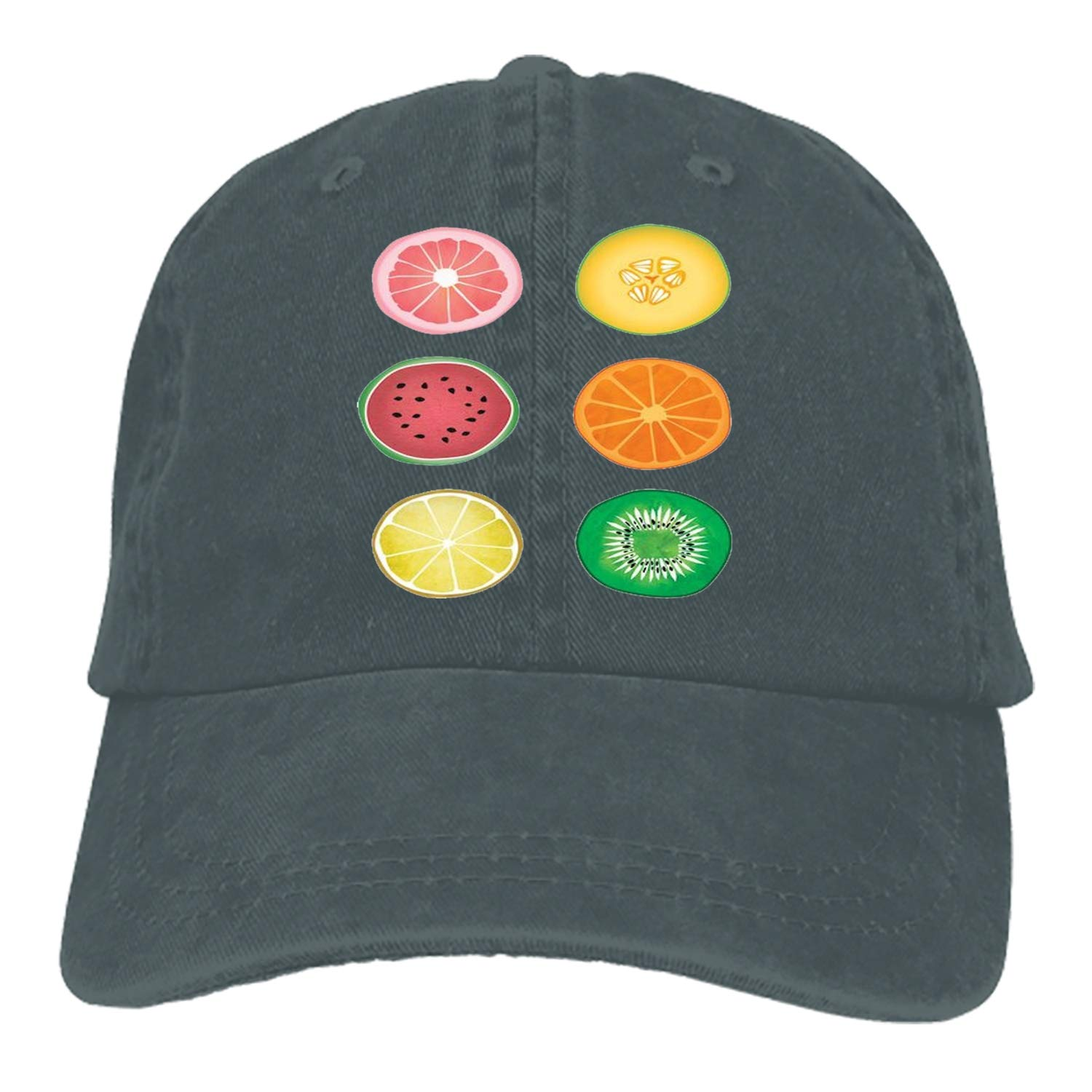 SHUANGRENDE Sliced Fruit Denim Hat Adjustable Mens Casual Baseball Caps