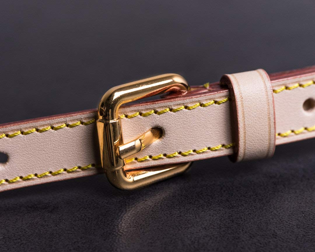 7//10 in Replacement Vachetta Leather Strap for Speedy Neverfull Nano Adjustable Cross Body DIY Strap Width 7//10 in Width 1.8cm