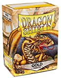 Dragon Shield Matte Gold 100 Deck Protective Sleeves Standard Size