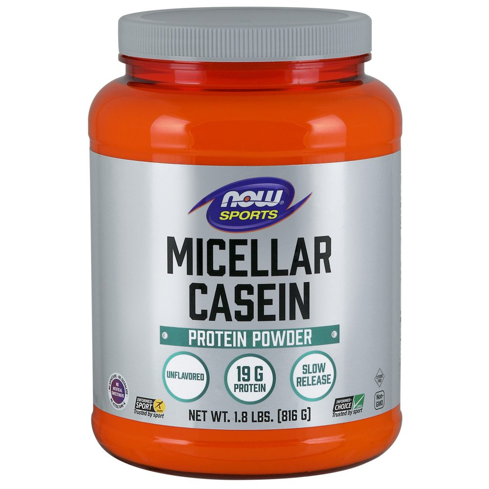 NOW Sports Micellar Casein Powder, 1.8-Pound