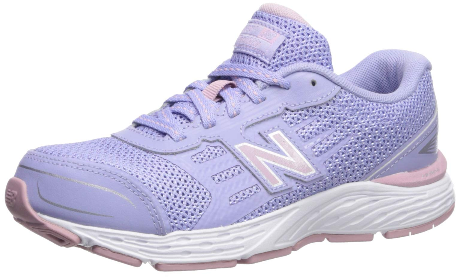 New Balance Girls' YP680CS Running Shoe, Clear Amethyst, 4M