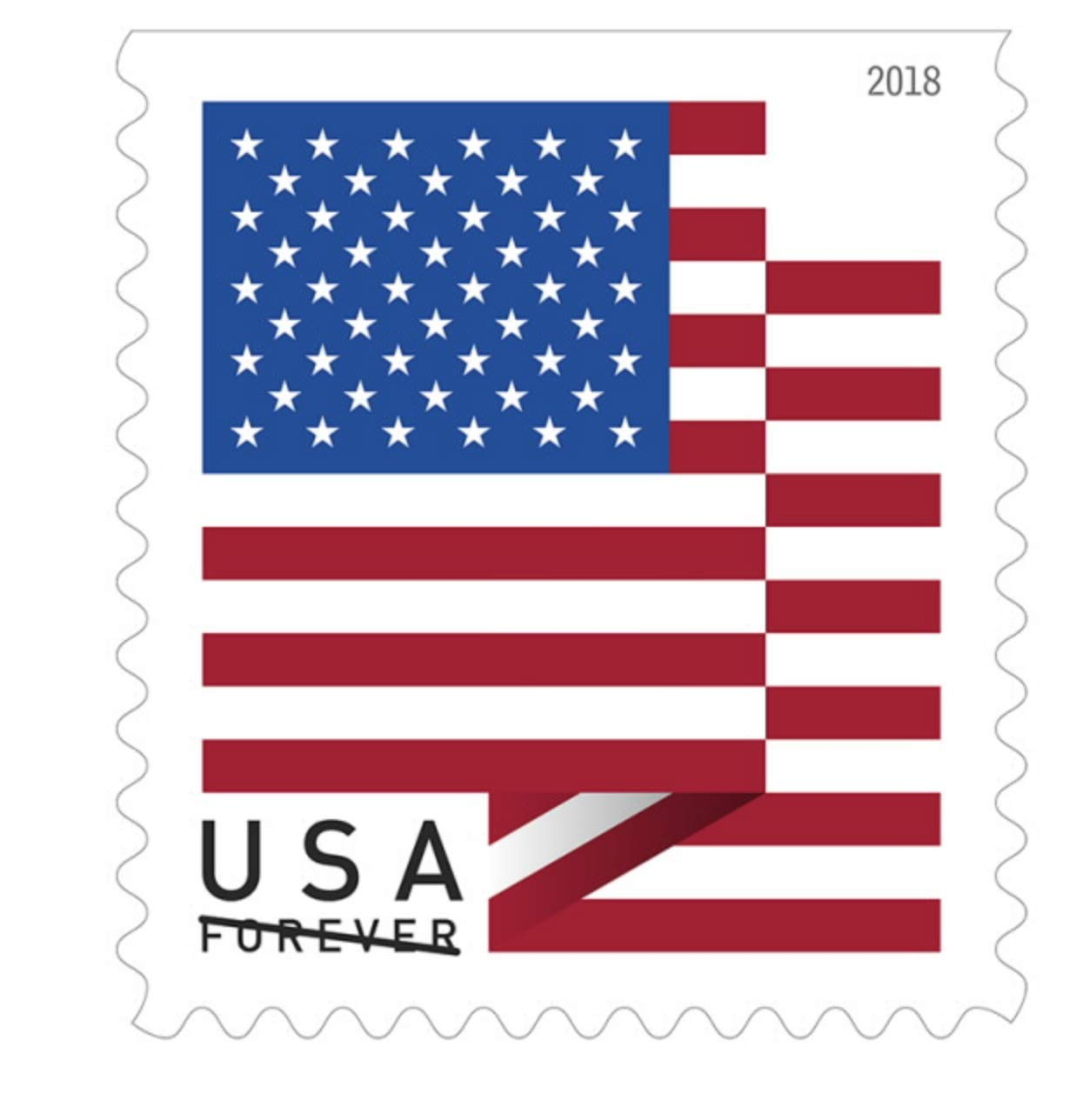 USPS Forever Flag Stamps - 1 Roll (100 stamps)