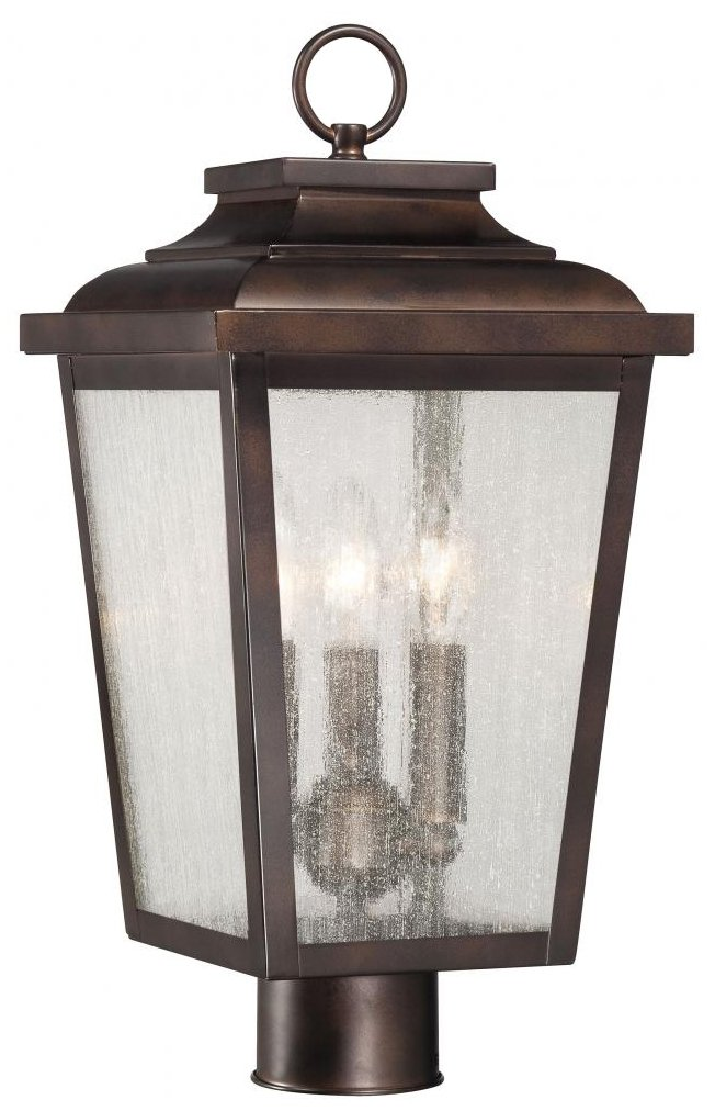 Minka Lavery 72176-189 Irvington Manor 3 Light Post Mount, Chelesa Bronze Finish