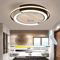 Led Plafondventilator Met Verlichting En Afstandsbediening Geruisloos Dimbaar Instelbare Windsnelheid Ventilator…