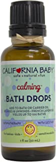 product image for California Baby Calming Bath Drops for Kids | 100% Plant Based (excludes water)| Aromatherapy Essential Oils with Lecithin Natural Safflower | Calming, Relaxing Bedtime Support for Baby or Adults | (1