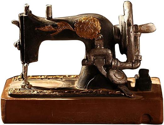 FAE&MGJ Escultura Clásico Retro Máquina de Coser Modelo Adornos Muebles de Resina Antigua máquina de Coser Miniatura Craft Bar Café Decoración del hogar Regalos: Amazon.es: Hogar