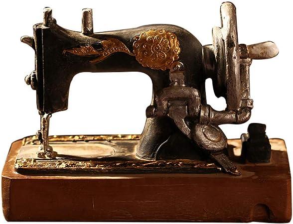 FAE&MGJ Escultura Clásico Retro Máquina de Coser Modelo Adornos ...