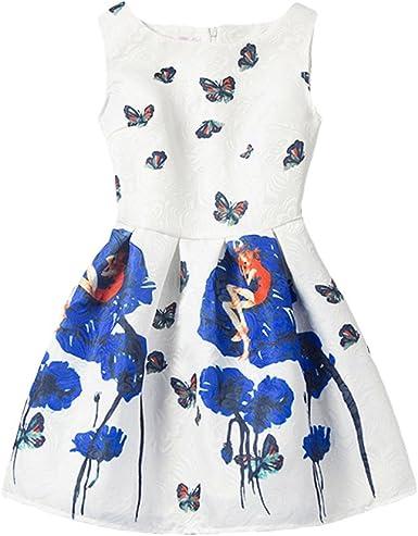 Little Hand Robe Ete Fille Enfant Papillon Dessin Anime Imprimer