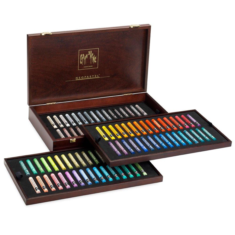 Caran D'ache Neopastel Wooden Box 96 Colors (7400.996)