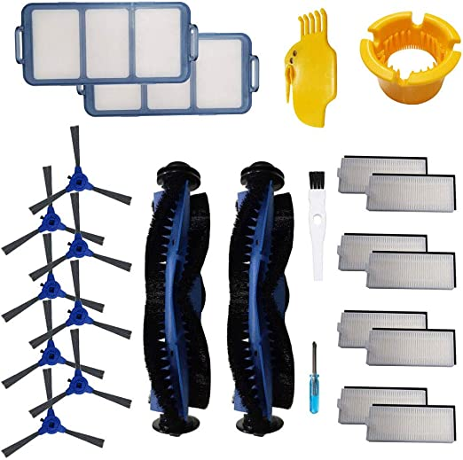 Loveco Replacement Accessories Kit Compatible for Eufy Robovac 11S,Robovac 30,Robovac 15C,Robovac 30C,8 Filter,8 Side Brush,1 Main Brush,1 Brush /& Filter Cleaning Tool