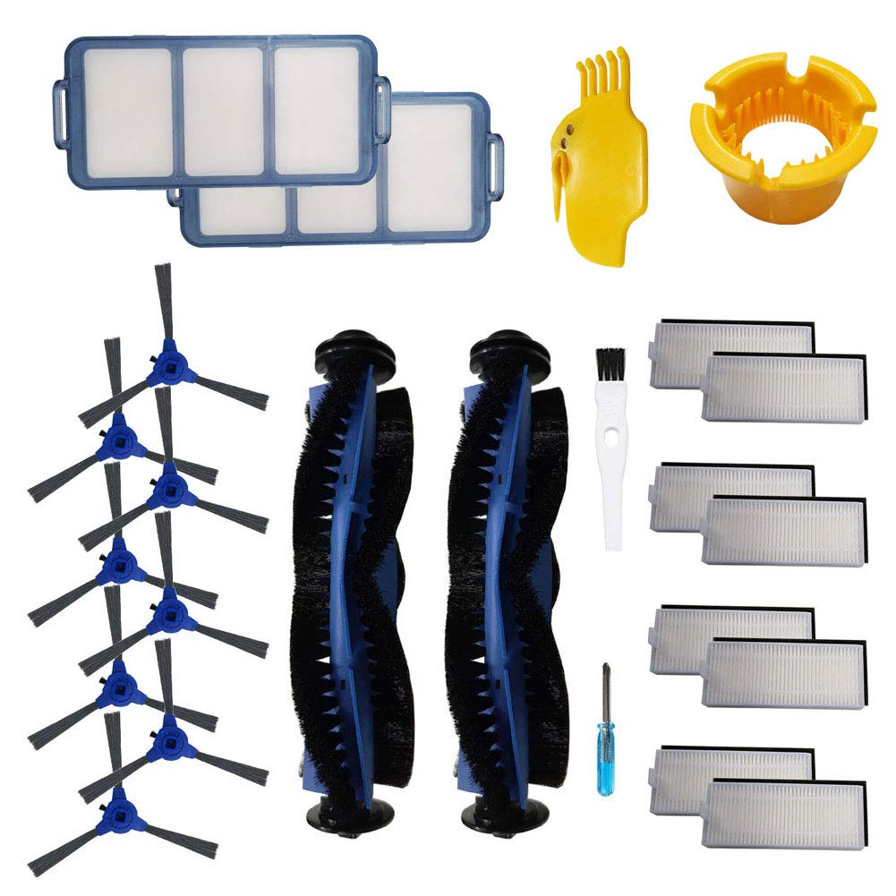 Replacement Accessories Kit for Eufy RoboVac 11S, RoboVac 30C, RoboVac 15C, RoboVac 30, RoboVac 35C, RoboVac 12 Accessory, Robotic Vacuum Cleaner Filters, Side Brushes,Rolling Brush