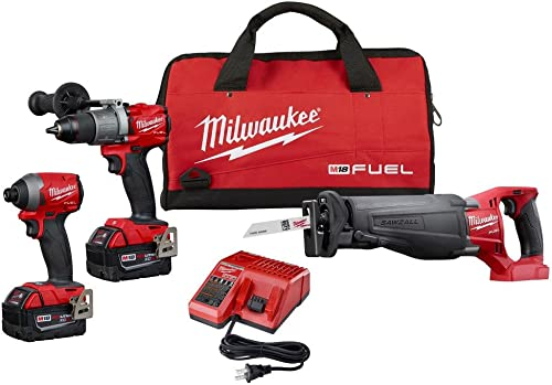 Milwaukee 2997-23 Fuel Combo Kit includes Drill Impact Reciprocating Sawzal