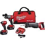 Milwaukee 2997-23 Fuel Combo Kit includes Drill Impact Reciprocating Sawzal