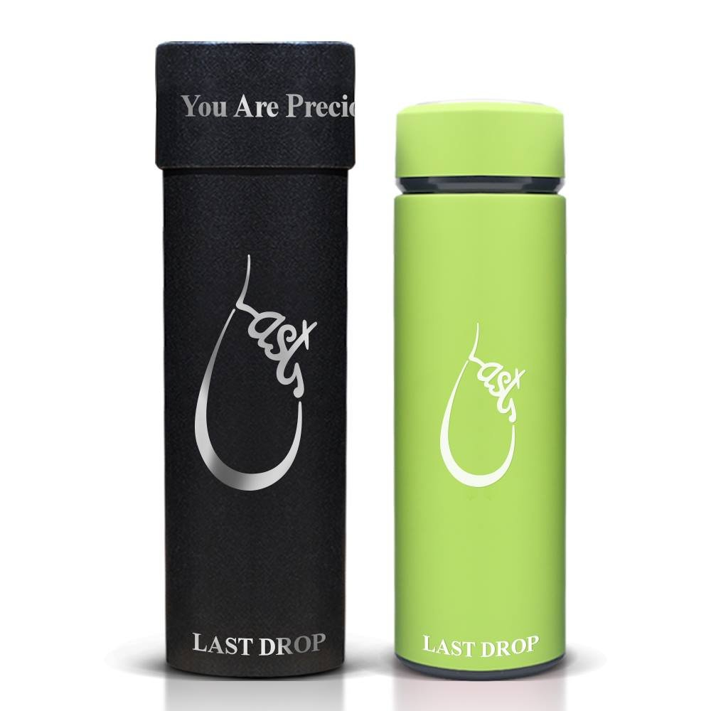 Last Drop Stylish Water Bottle---the best vacuum insulated water bottle coffee mug made from stainless steel16oz double wall matte color leak-resistant keep cold for 24hrs and hot for 12hrs