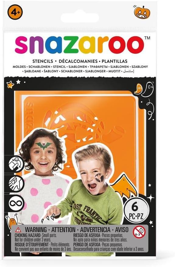 Snazaroo - Plantillas de pintura facial, set de 6, Halloween: Amazon.es: Juguetes y juegos